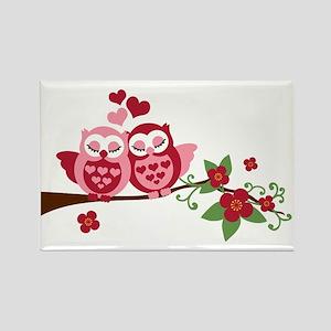 Love Me Owls Rectangle Magnet