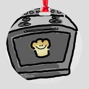 Bun in the Oven-no words Round Ornament