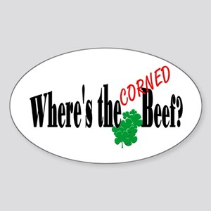 Where's the Corned Beef Oval Sticker