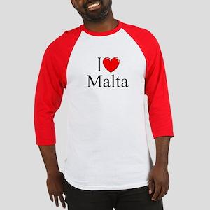"""""""I Love Malta"""" Baseball Jersey"""