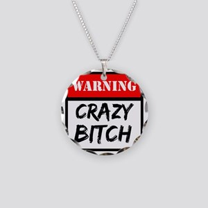 warning a Necklace Circle Charm