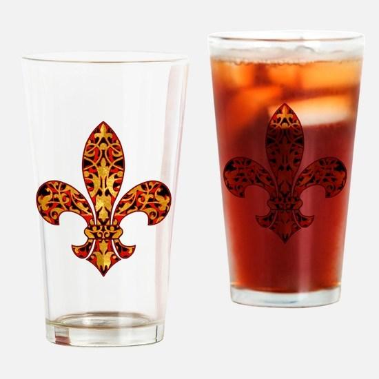 FilagreeGoldLfleur1TR Drinking Glass