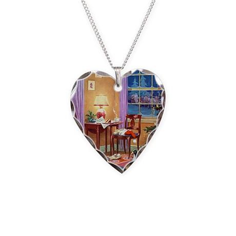 ! Santa Clause002_SQ_ADJ Necklace Heart Charm