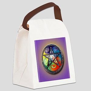 pentacle elements i-phone slider Canvas Lunch Bag