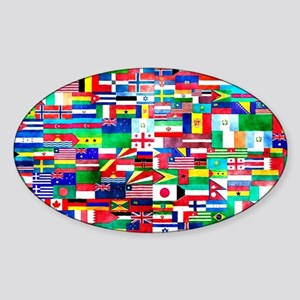 Flag Collage Sticker (Oval)