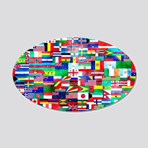 Flag Collage 20x12 Oval Wall Decal