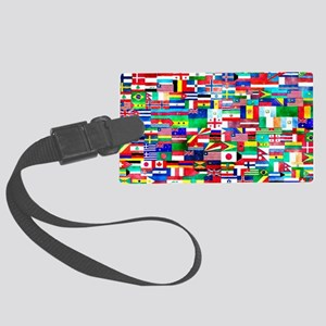 Flag Collage Large Luggage Tag