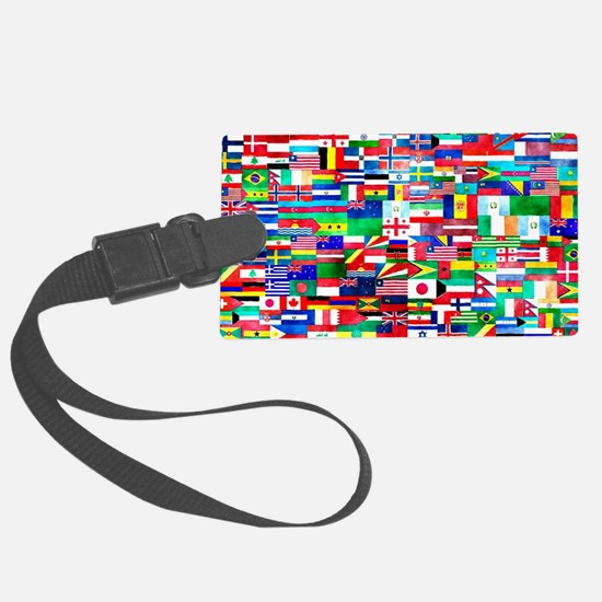 Flag Collage Luggage Tag