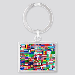 Flag Collage Landscape Keychain