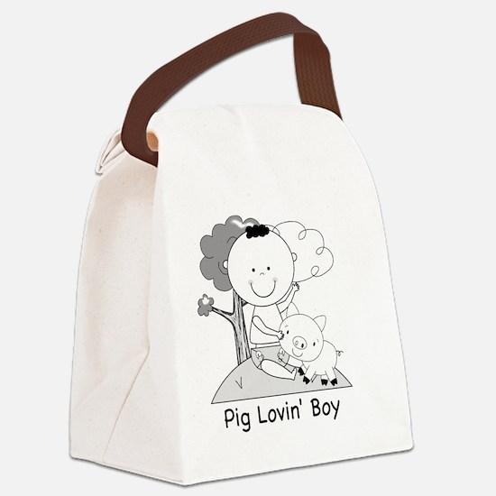 pig lovin boy-001 Canvas Lunch Bag
