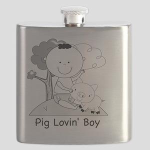 pig lovin boy-001 Flask