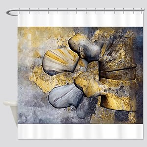 Lumbar Stone Shower Curtain