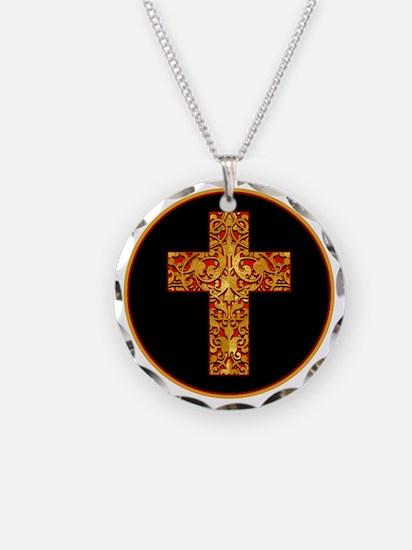 GoldLeafCrossBr Necklace