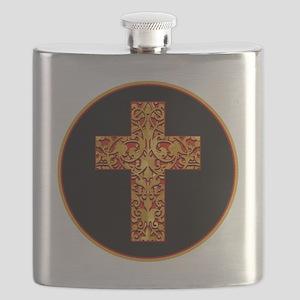 GoldLeafCrossBr Flask
