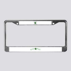 Kiss Me! I'm Easy! License Plate Frame