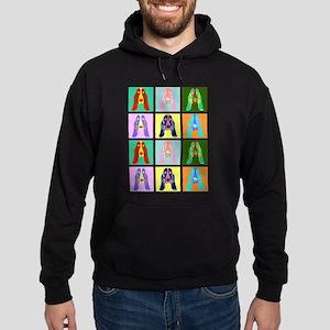 Basset Hound Pop Art Hoodie (dark)