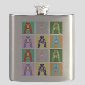 Basset Hound Pop Art Flask