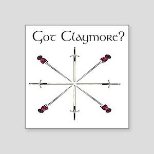 "got-claymore003c Square Sticker 3"" x 3"""