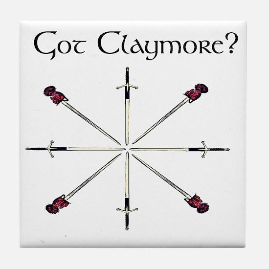 got-claymore003c Tile Coaster