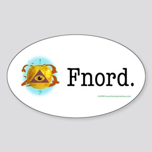 Golden Apple Fnord Oval Sticker
