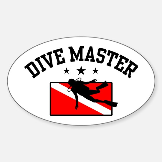 Dive Master Sticker (Oval)
