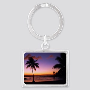 poipu_sunset Landscape Keychain