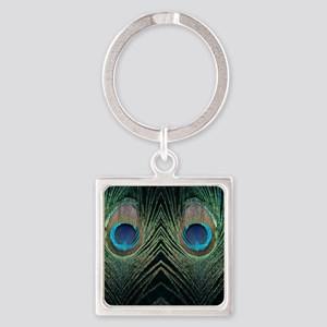 stadium two dark peacocks Square Keychain
