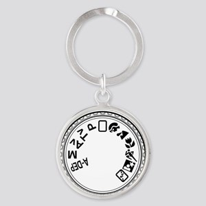 441_iphone3g_case mode dial2 Round Keychain
