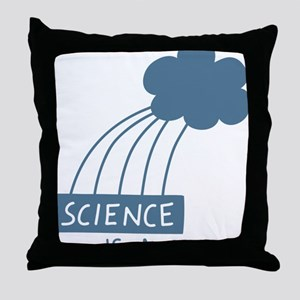 ScienceIsAwesome_dark Throw Pillow