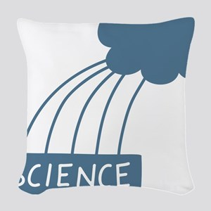 ScienceIsAwesome_dark Woven Throw Pillow