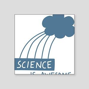 """ScienceIsAwesome_dark Square Sticker 3"""" x 3"""""""