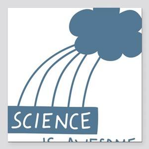 """ScienceIsAwesome_dark Square Car Magnet 3"""" x 3"""""""