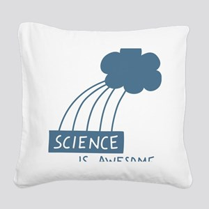 ScienceIsAwesome_dark Square Canvas Pillow