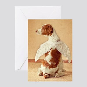 brittany angel mouse pad Greeting Card