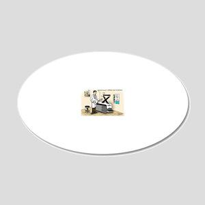 Pi_63a Blue Pill Kurtosis (5 20x12 Oval Wall Decal