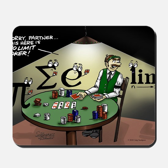 Pi_47 No Limit Poker (7.5x4.5 Color) Mousepad