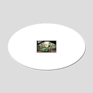 Pi_47 No Limit Poker (6.55x4 20x12 Oval Wall Decal