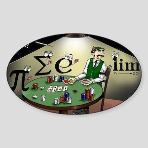 Pi_47 No Limit Poker (6.55x4.5 Colo Sticker (Oval)