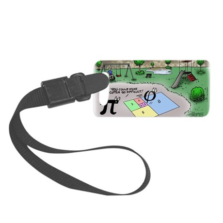 Pi_65 Fibonacci Hopscotch (7.5x4 Small Luggage Tag