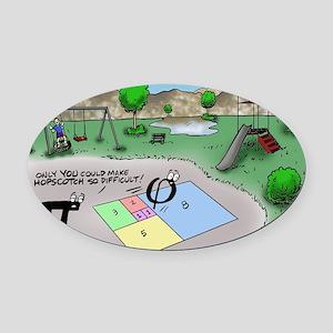 Pi_65 Fibonacci Hopscotch (10x10 C Oval Car Magnet