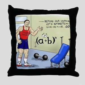 Pi_56 Math Stretches (7.5x4.5 Color) Throw Pillow