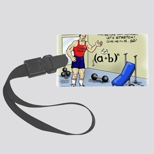 Pi_56 Math Stretches (7.5x4.5 Co Large Luggage Tag