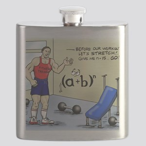 Pi_56 Math Stretches (7.5x4.5 Color) Flask