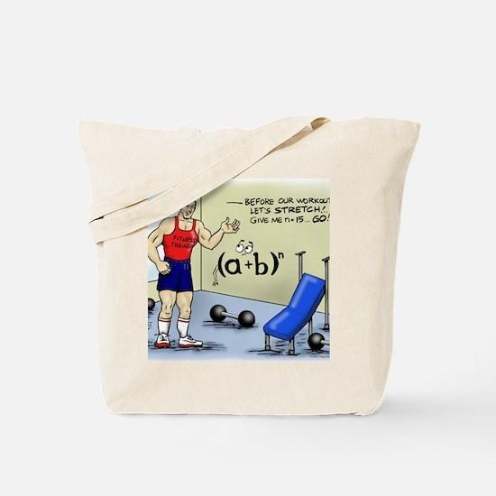 Pi_56 Math Stretches (7.5x4.5 Color) Tote Bag