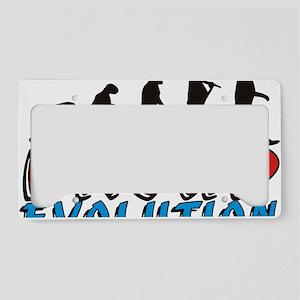 man col shirt License Plate Holder