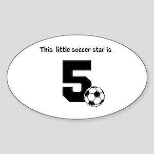 Little Soccer Star Custom Age Sticker