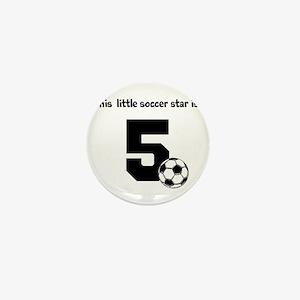 Little Soccer Star Custom Age Mini Button