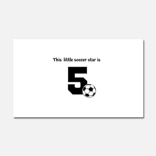 Little Soccer Star Custom Age Car Magnet 20 x 12
