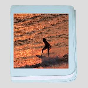 surfer baby blanket