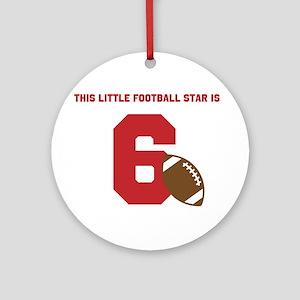 Football Star Custom Age Ornament (Round)
